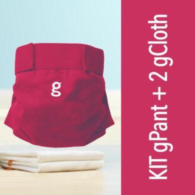 Kit cobertor pañal + gPant 2 absorbentes de tela lavables gCloth gNappies